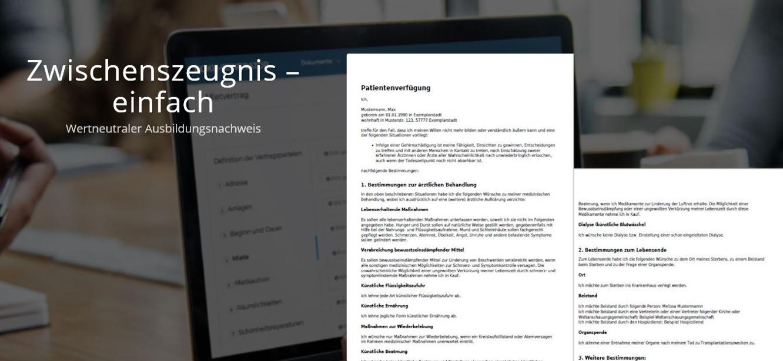 einfaches Zwischenzeugnis Ausbildung - Beispiel der fertigen PDF - wertneutraler Ausbildungsnachweis